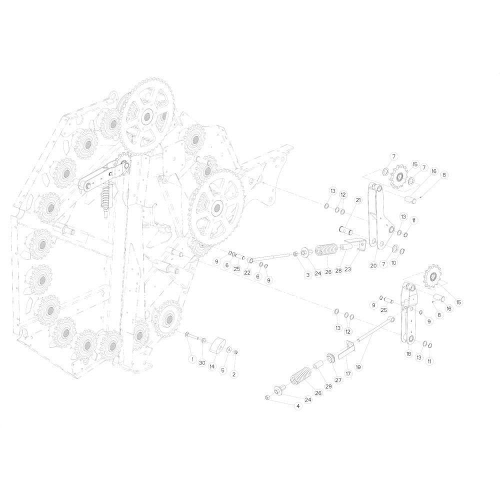 22 Kettingspanner passend voor KUHN FB3130