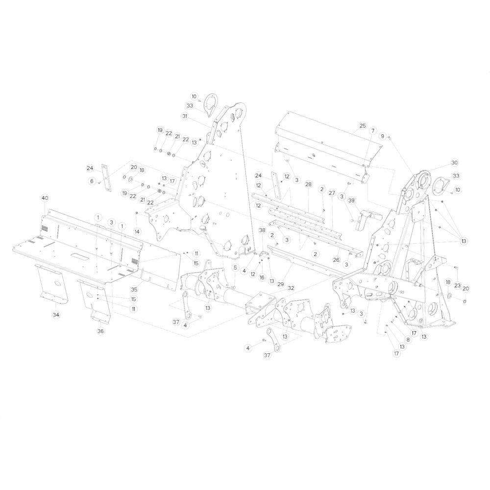 13 Hoofdframe passend voor KUHN FB3130