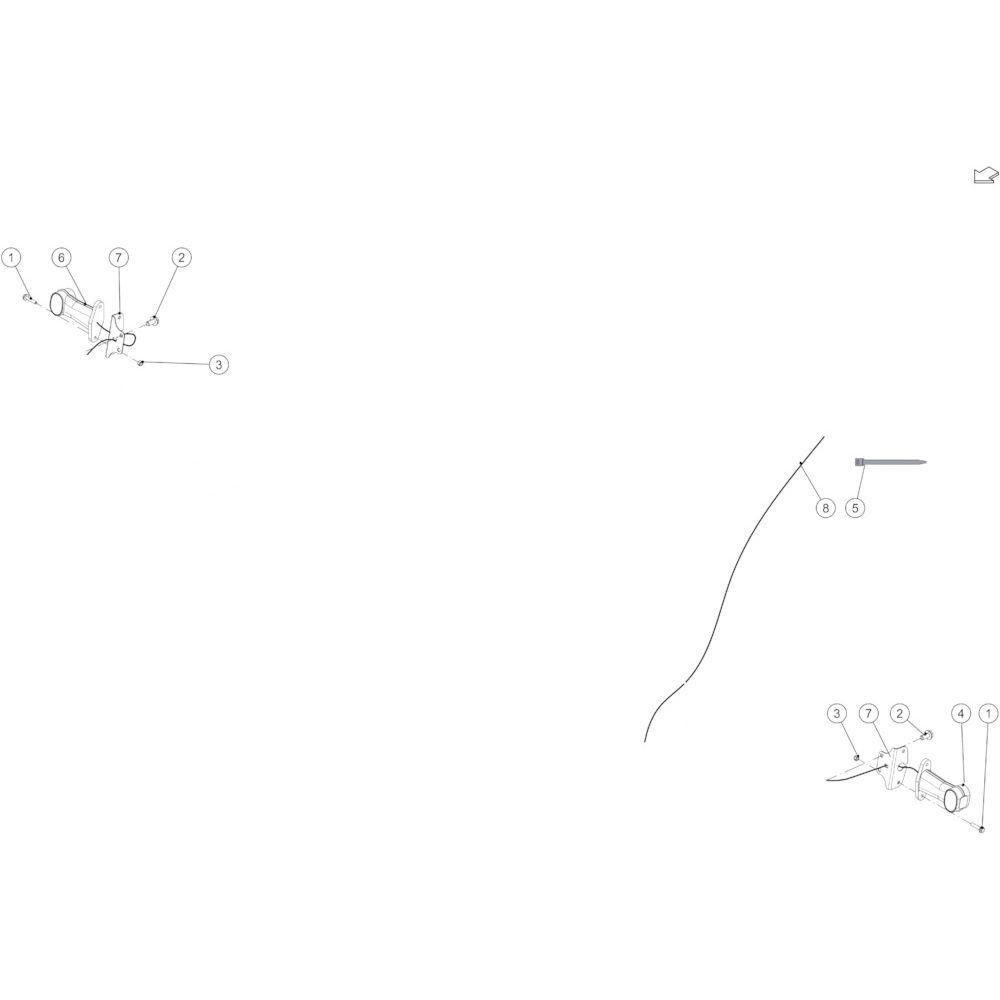 60 Verlichtingsuitrusting voorzijde passend voor KUHN FB3130