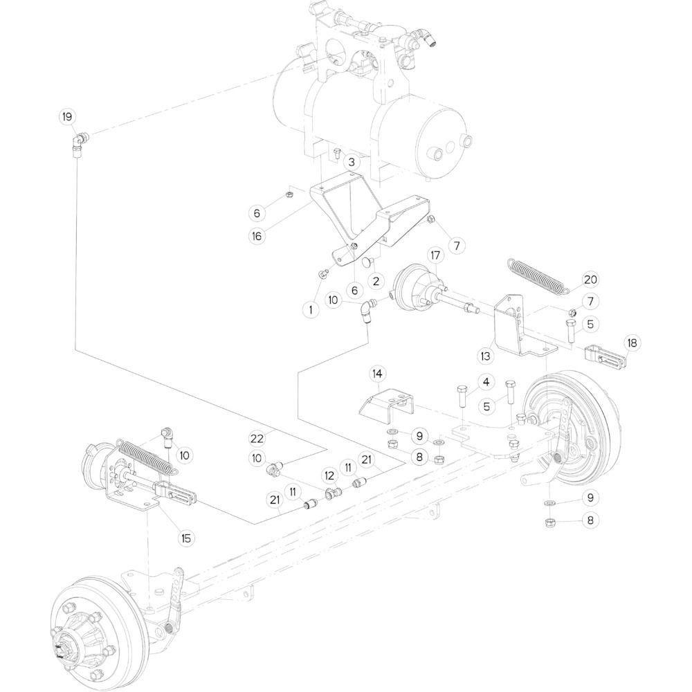 10 Pneumatische rem passend voor KUHN FB3135