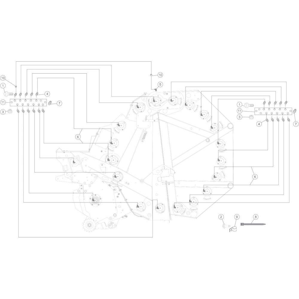 52 Smeersysteem handmatig passend voor KUHN FB3135