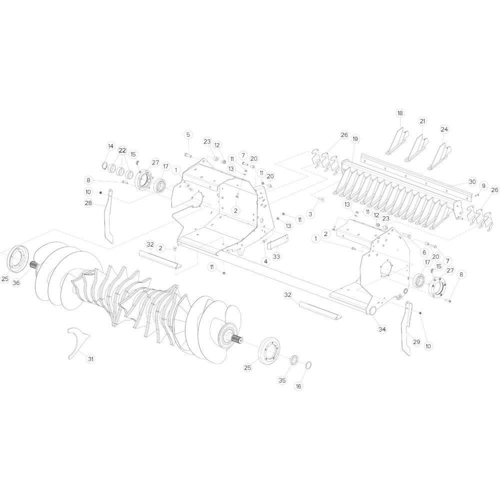 28 Rotor 14-0C passend voor KUHN FB3135