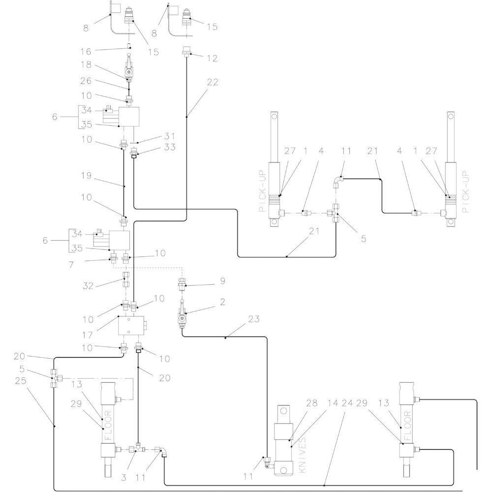 39 Hydraulisch 14-0C passend voor KUHN FB3135