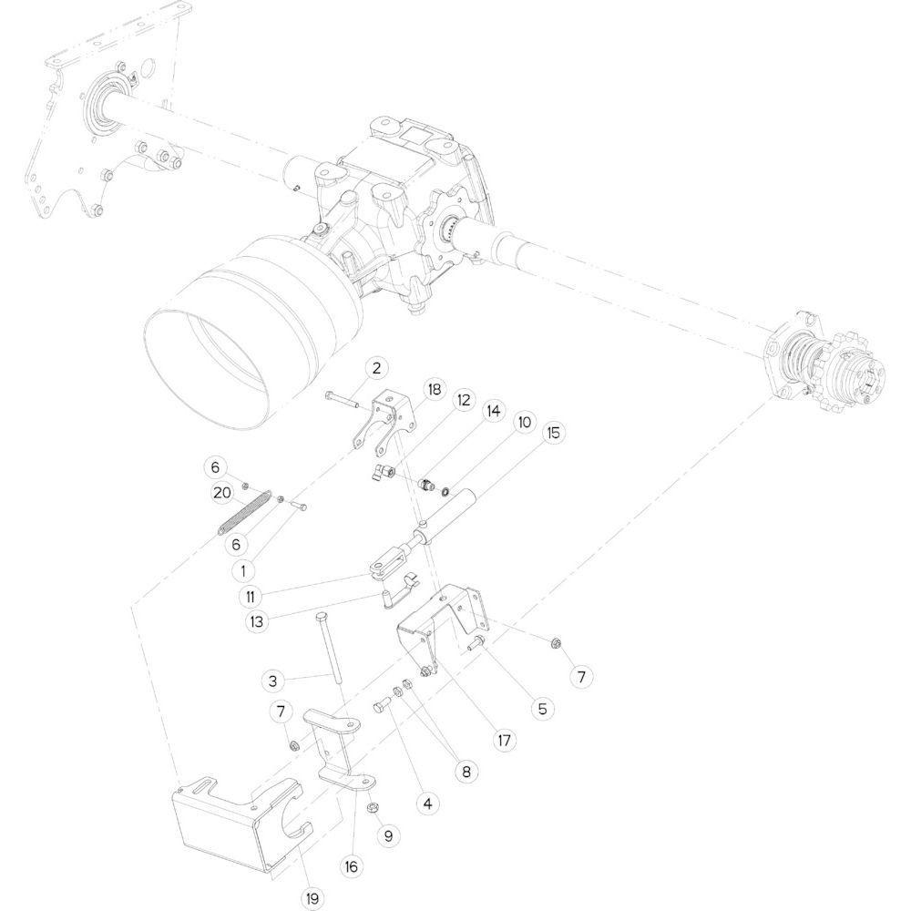 02 Rotorontkoppeling, hydraulisch passend voor KUHN FB3135