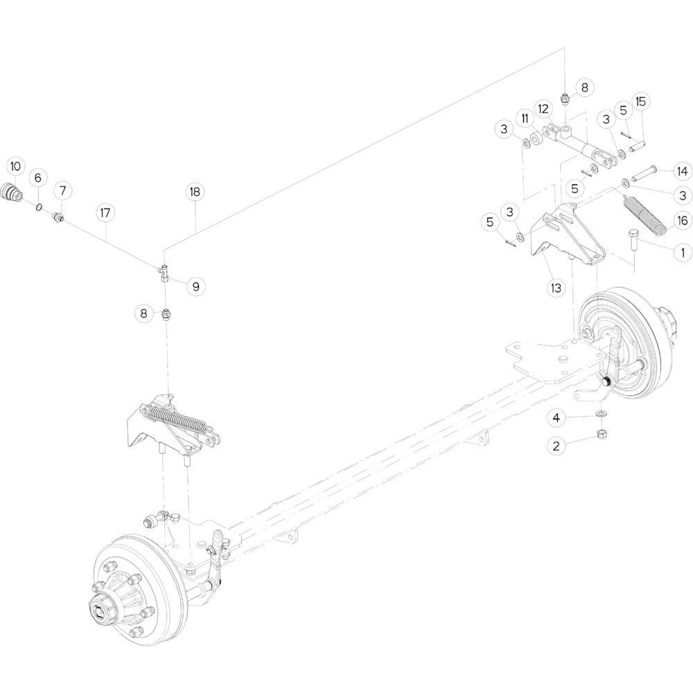 11 Hydraulische remmen passend voor KUHN FB3135