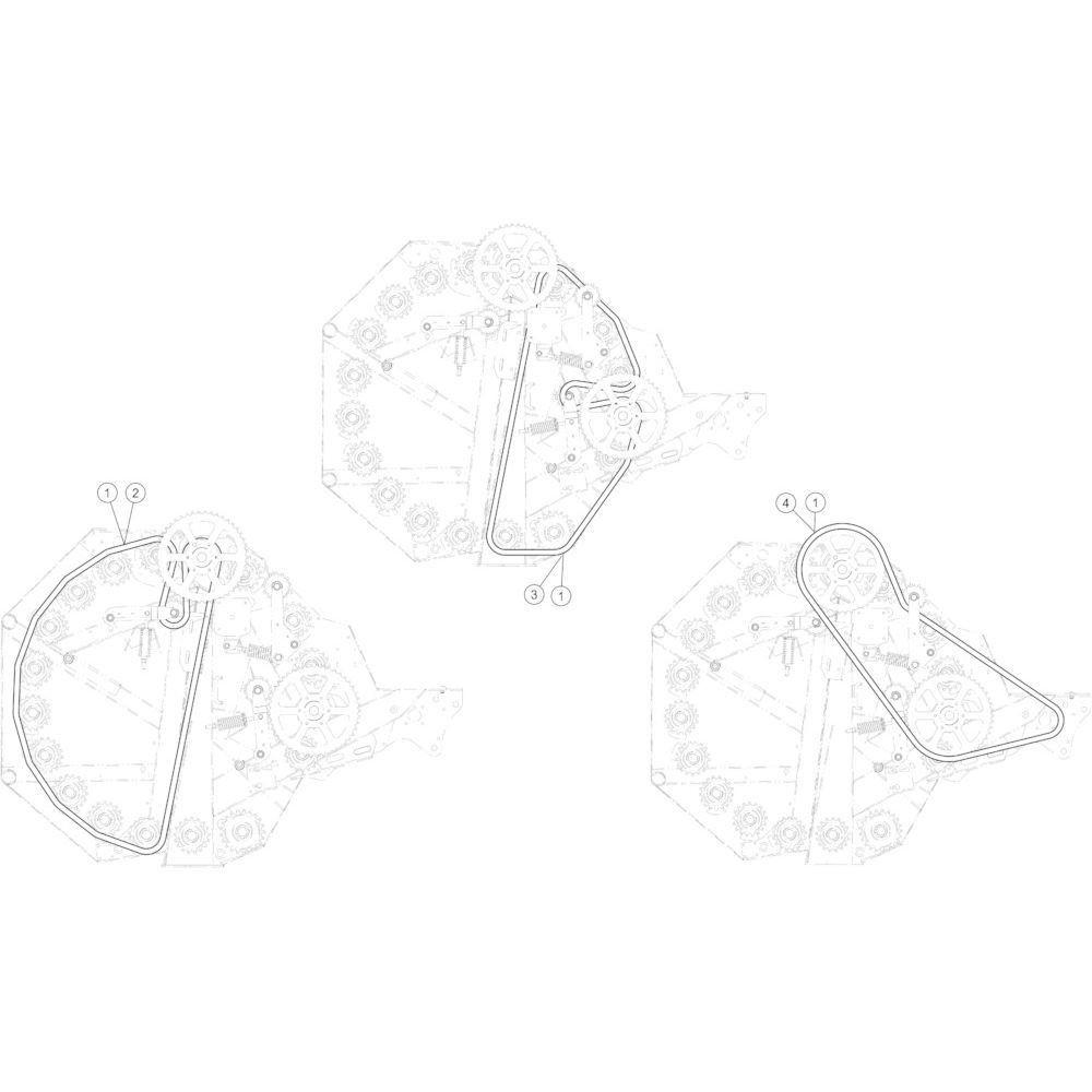 21 Aandrijfketting passend voor KUHN FB3135