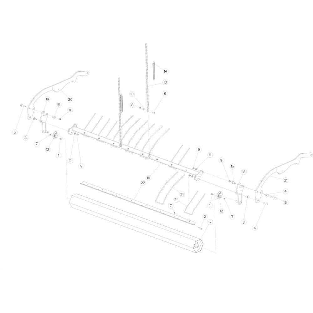 25 Opraper rol passend voor KUHN FB3135