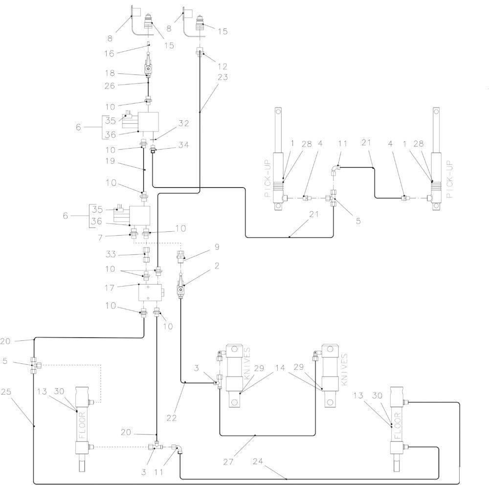 40 Hydraulisch 23-0C passend voor KUHN FB3135