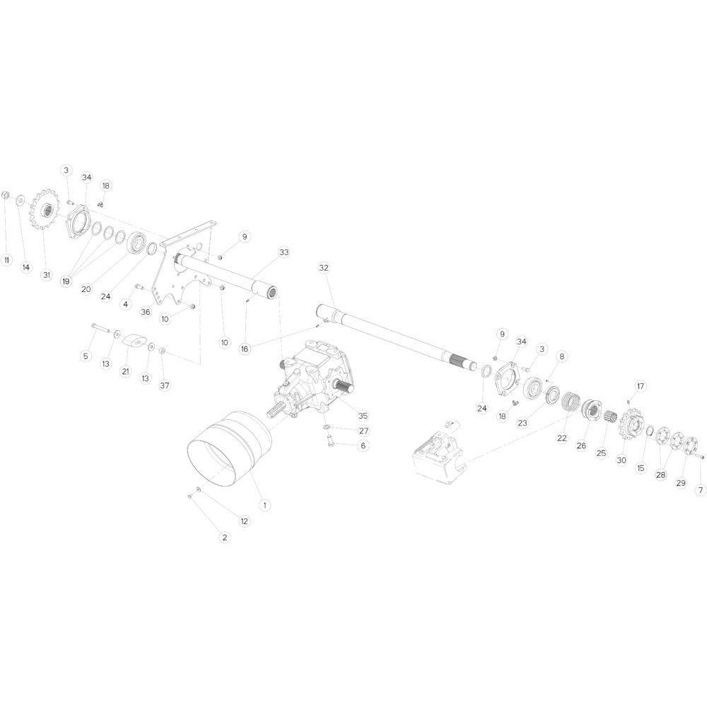 01 Aandrijving passend voor KUHN FB3135