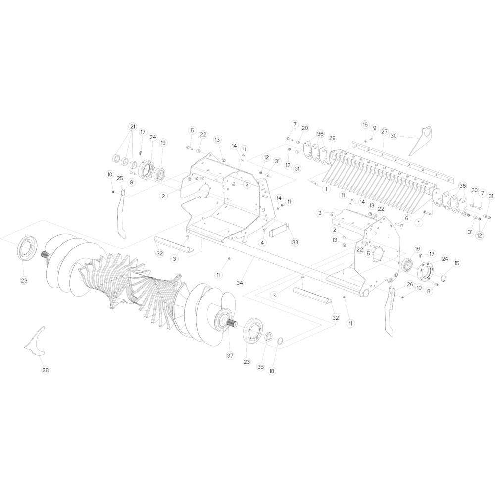30 Rotor 23-0C passend voor KUHN FB3135