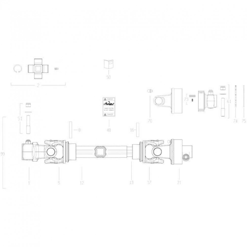 20 Aftakas passend voor KUHN GMD280F