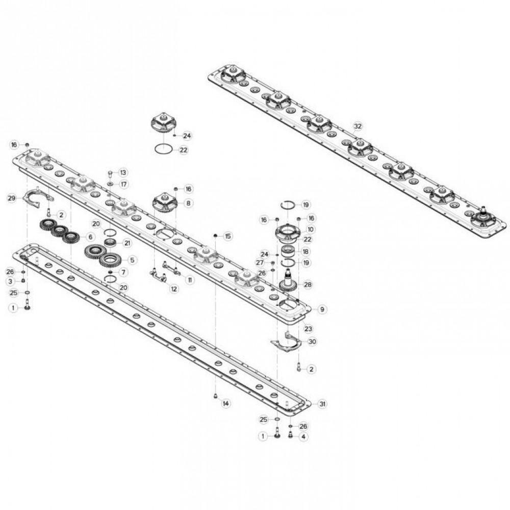 11 Maaibalk tandwielbehuizing passend voor KUHN GMD280F