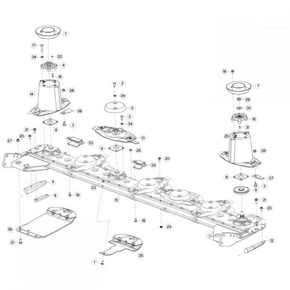 12 Schijven passend voor KUHN GMD280F