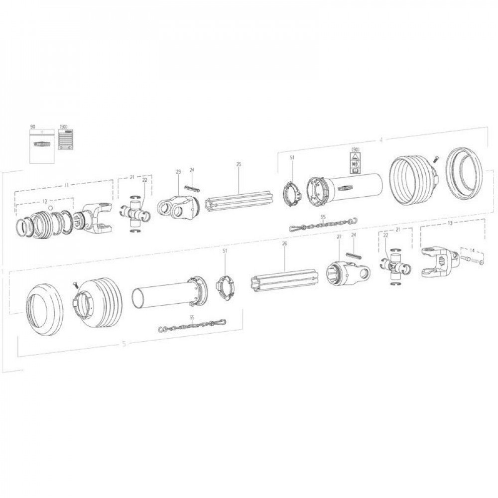 19 Aftakas passend voor KUHN GMD280F