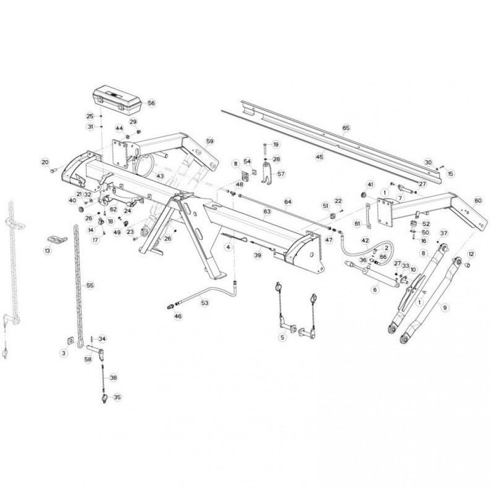 01 Trekhaakframe passend voor KUHN GMD280F-FF