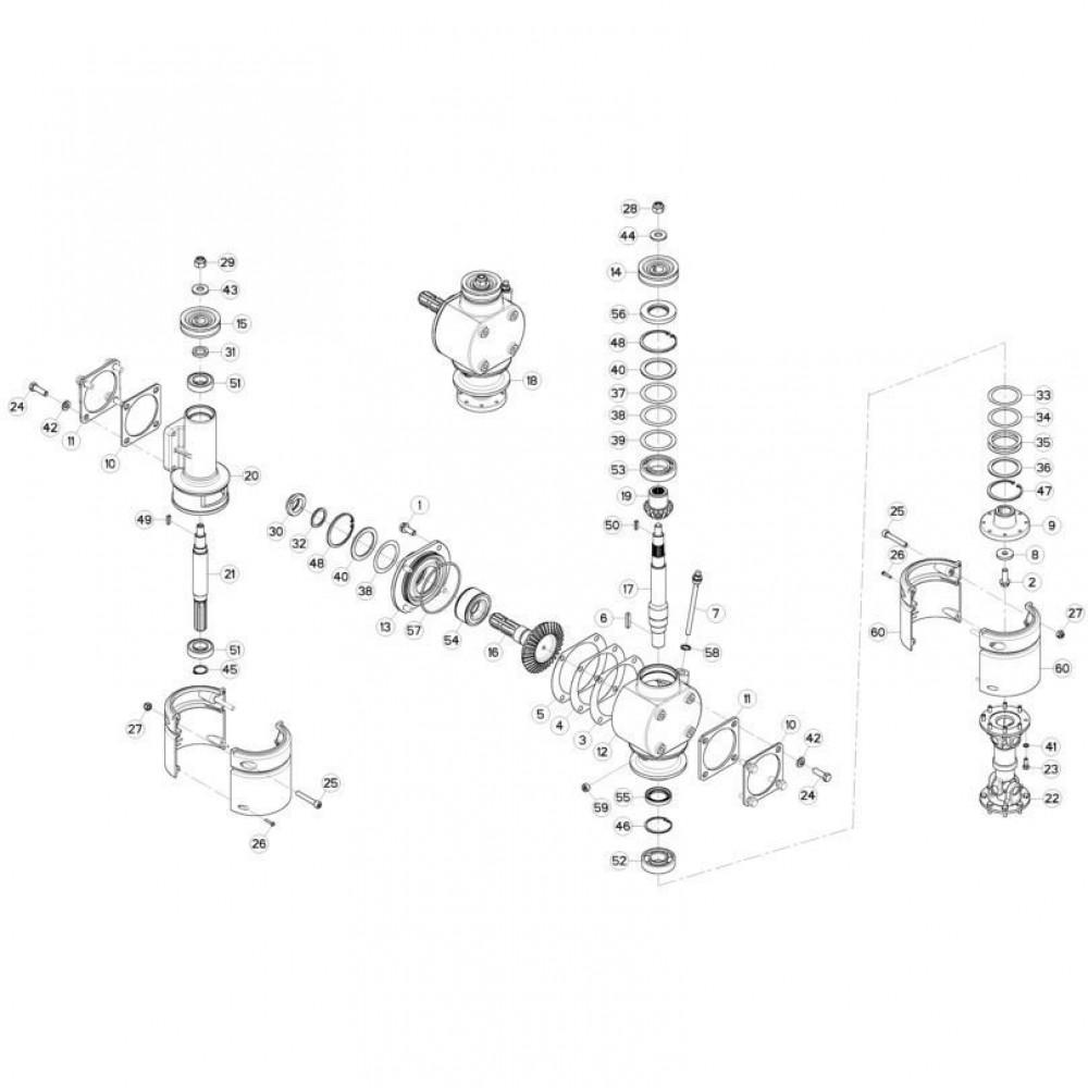 06 Aandrijving passend voor KUHN GMD280F-FF