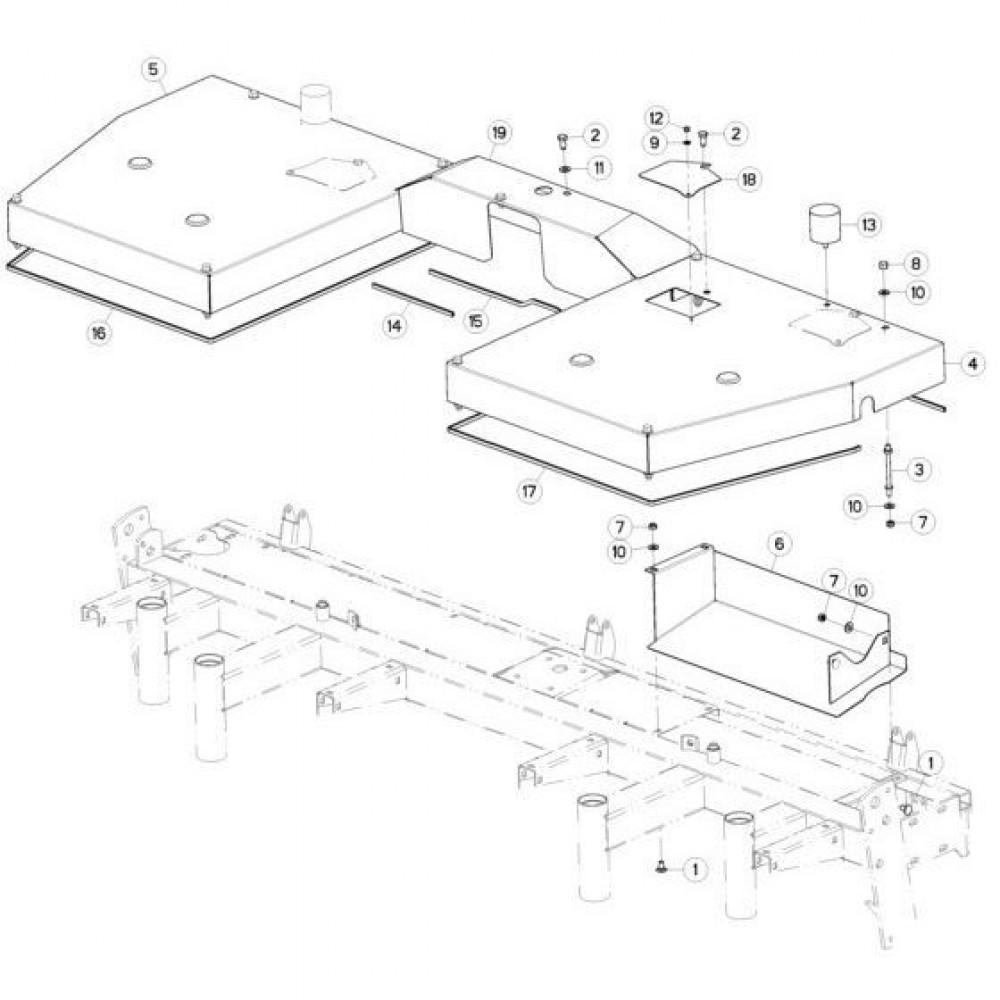 07 Afschermingen passend voor KUHN GMD280F-FF