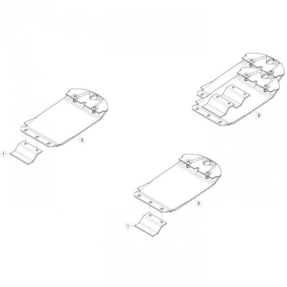 17 Verhoogde glijplaatschoenset passend voor KUHN GMD280F-FF