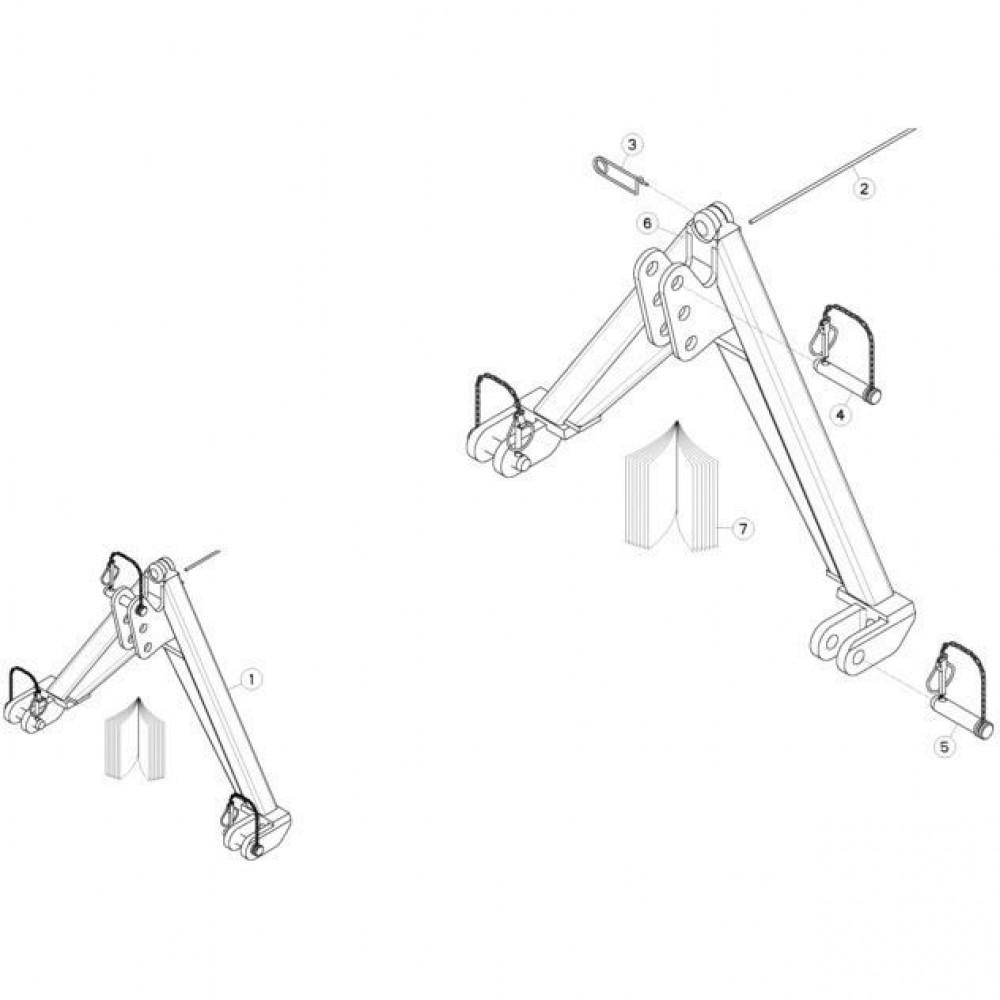 18 Bevestigingsframe passend voor KUHN GMD280F-FF