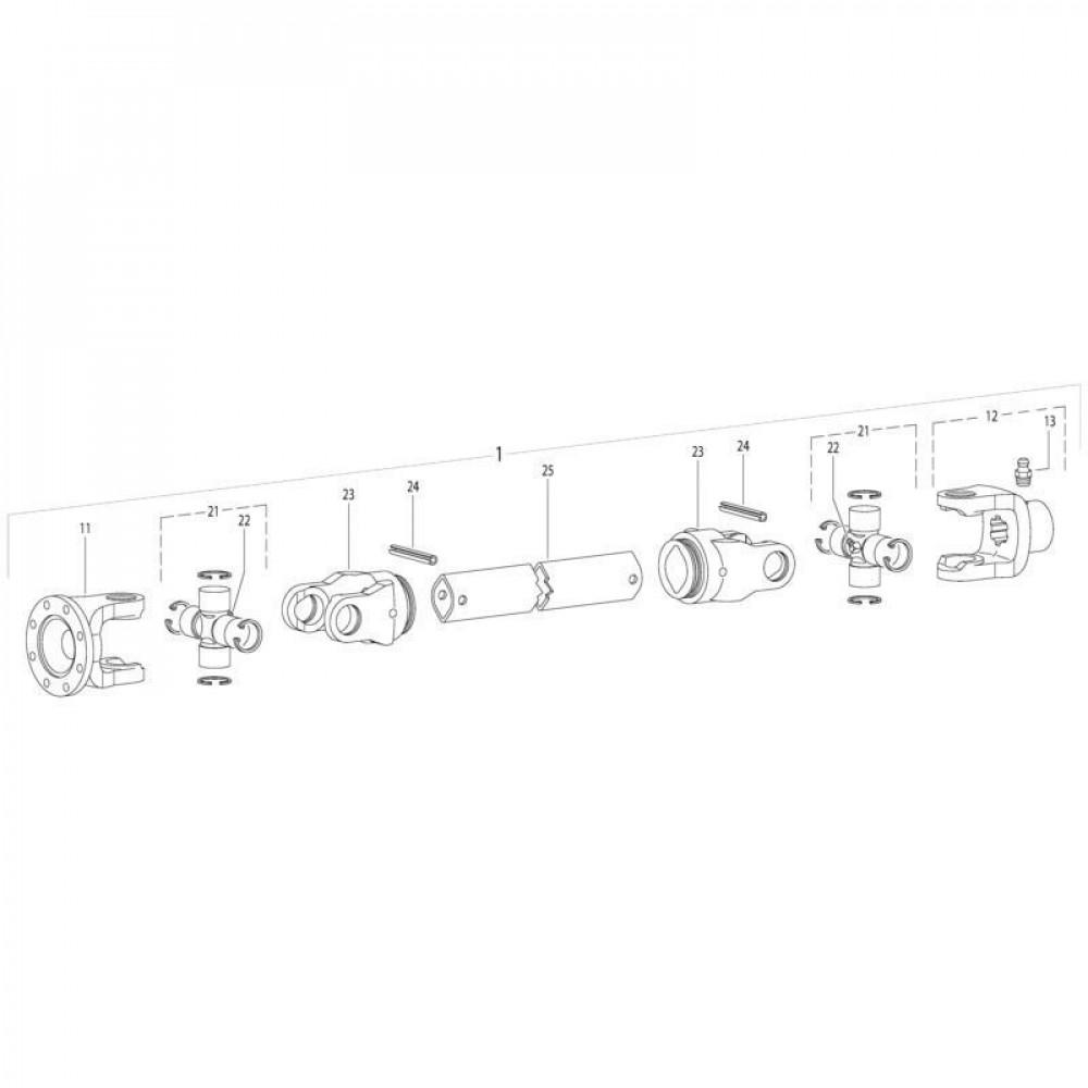 20 Aftakas passend voor KUHN GMD280F-FF