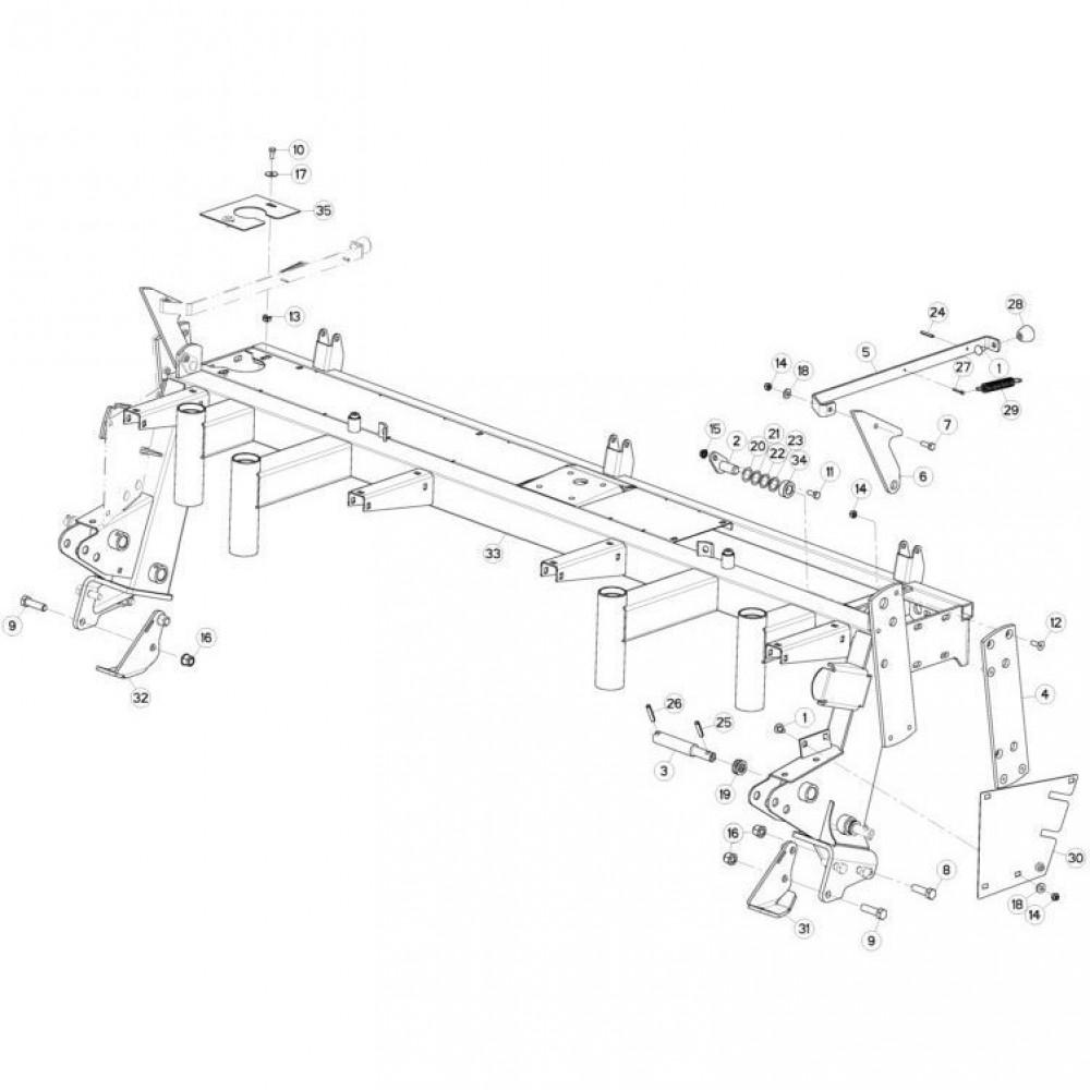 04 Steunbuis passend voor KUHN GMD280F-FF