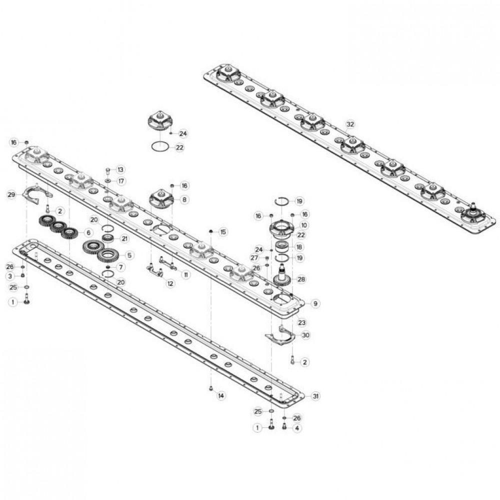 11 Maaibalk tandwielbehuizing passend voor KUHN GMD280F-FF