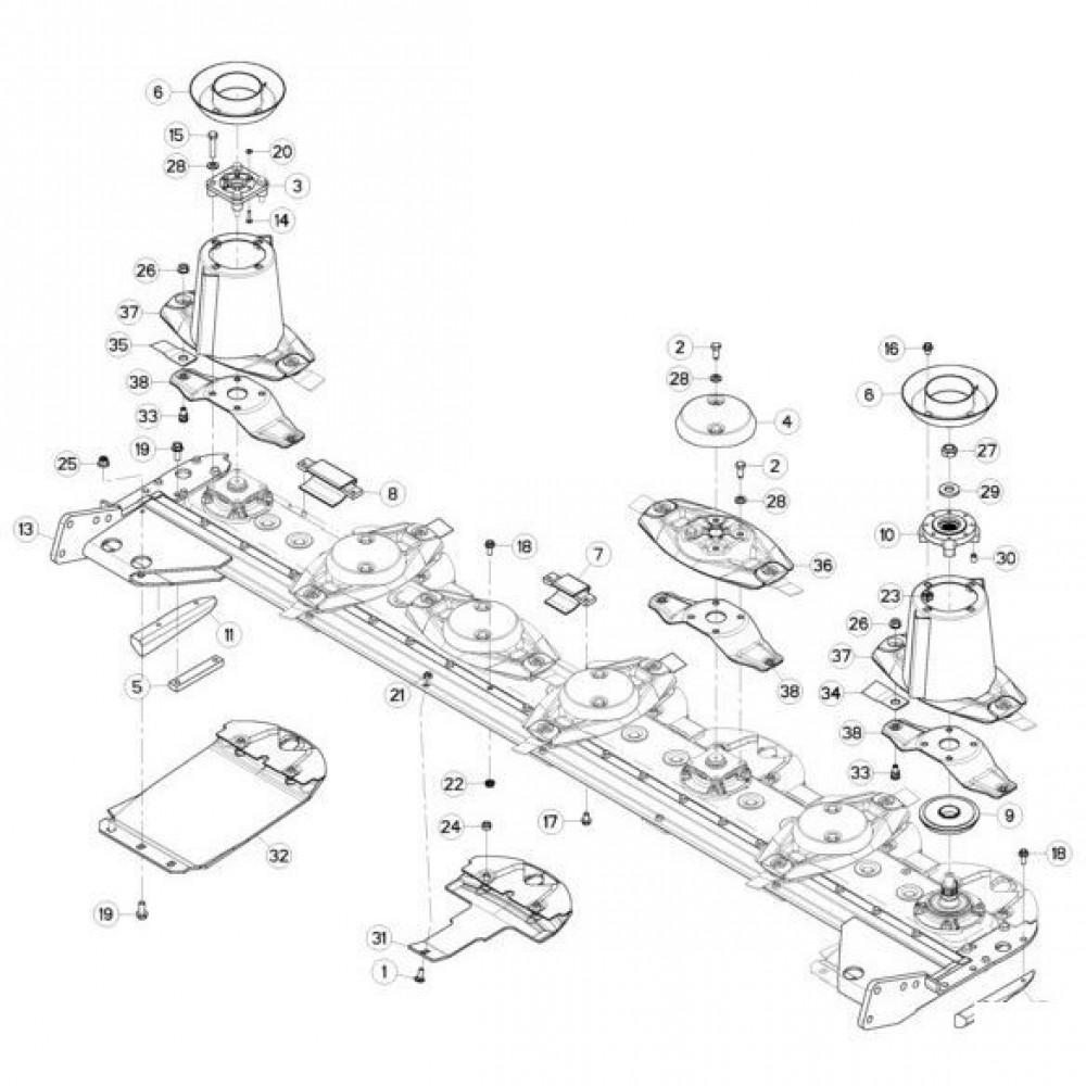 12 Schijven passend voor KUHN GMD280F-FF