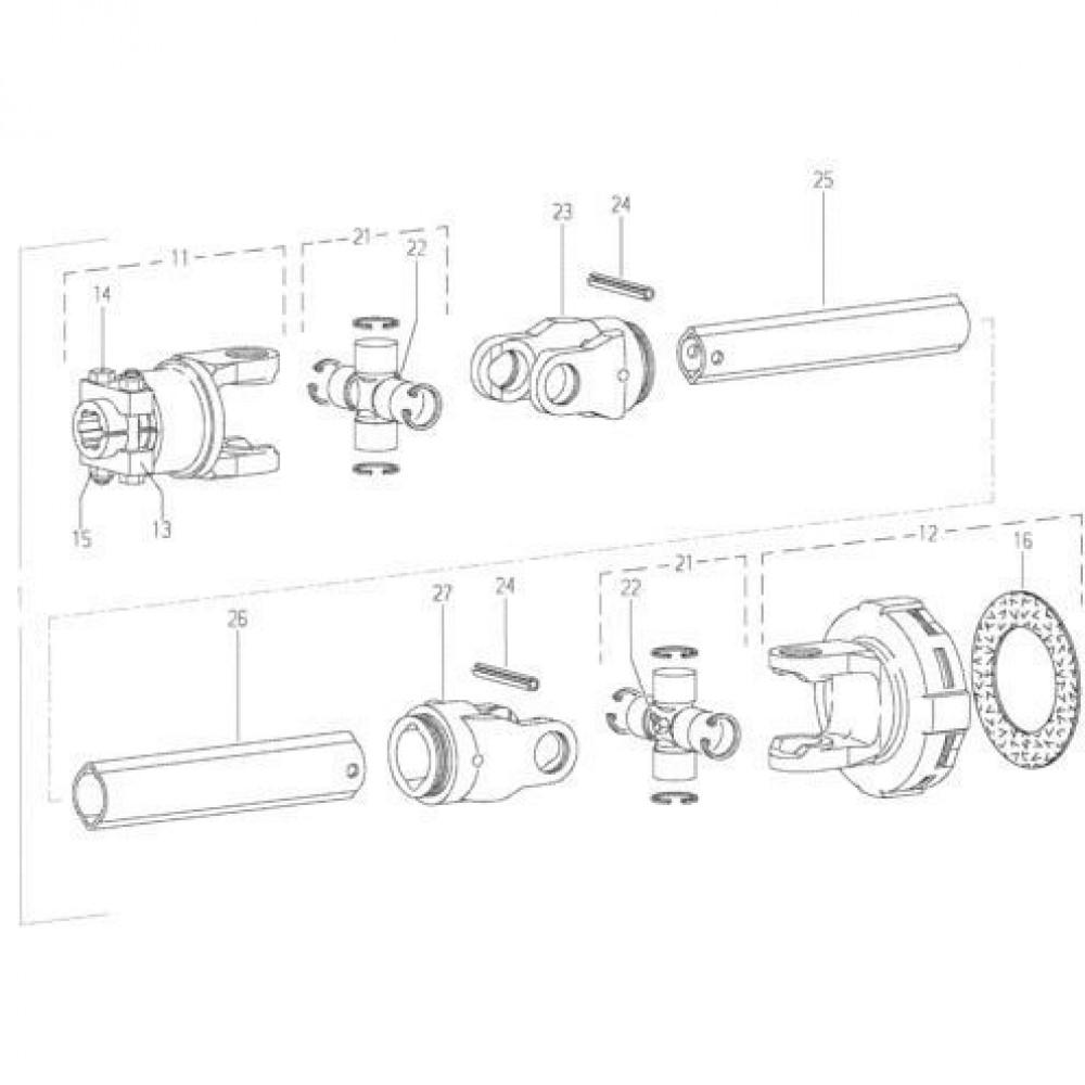 19 Aftakas passend voor KUHN GMD280F-FF