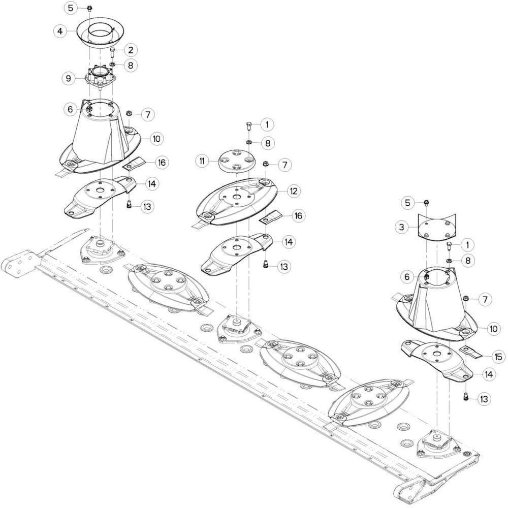 08 Schijven 1 passend voor KUHN GMD280F