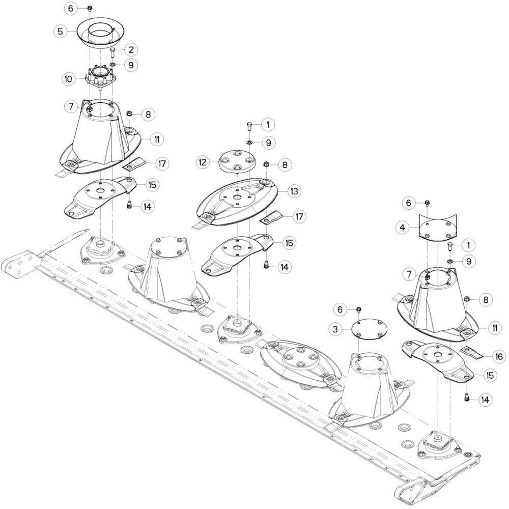 09 Schijven 2 passend voor KUHN GMD280F