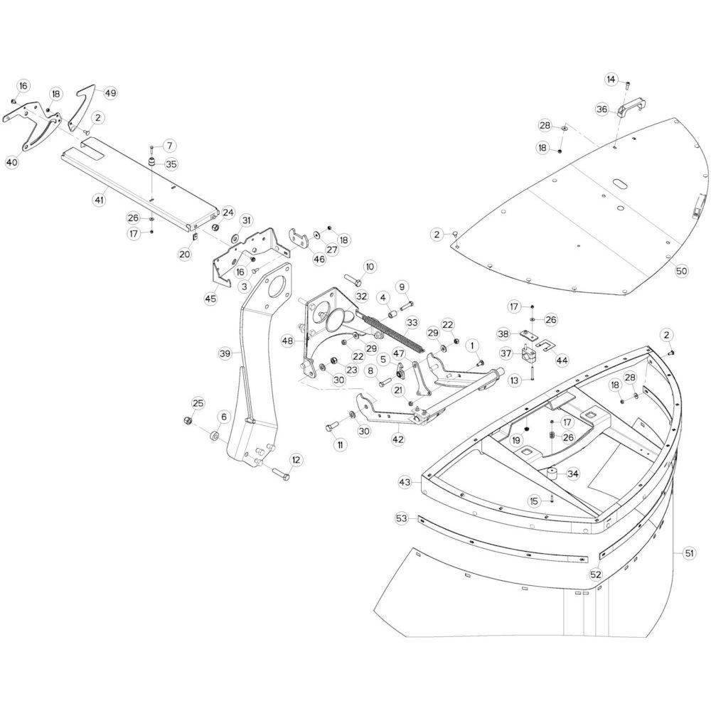 06 Beschermingen rechts passend voor KUHN GMD280F