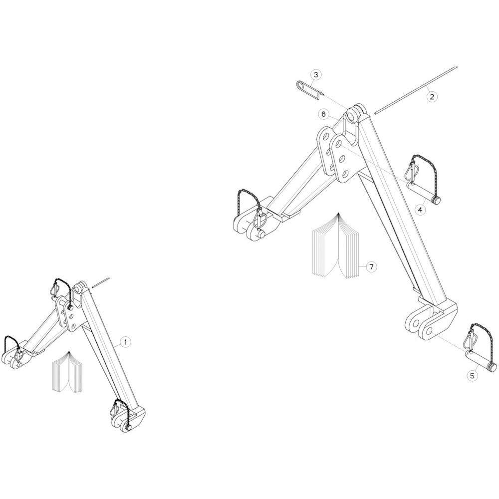 13 Bevestigingsframe 2 passend voor KUHN GMD280F