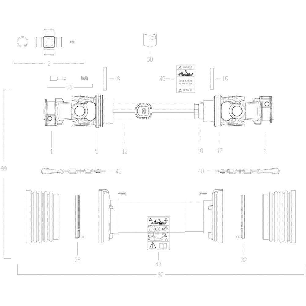 19 Transmissie passend voor KUHN GMD280F