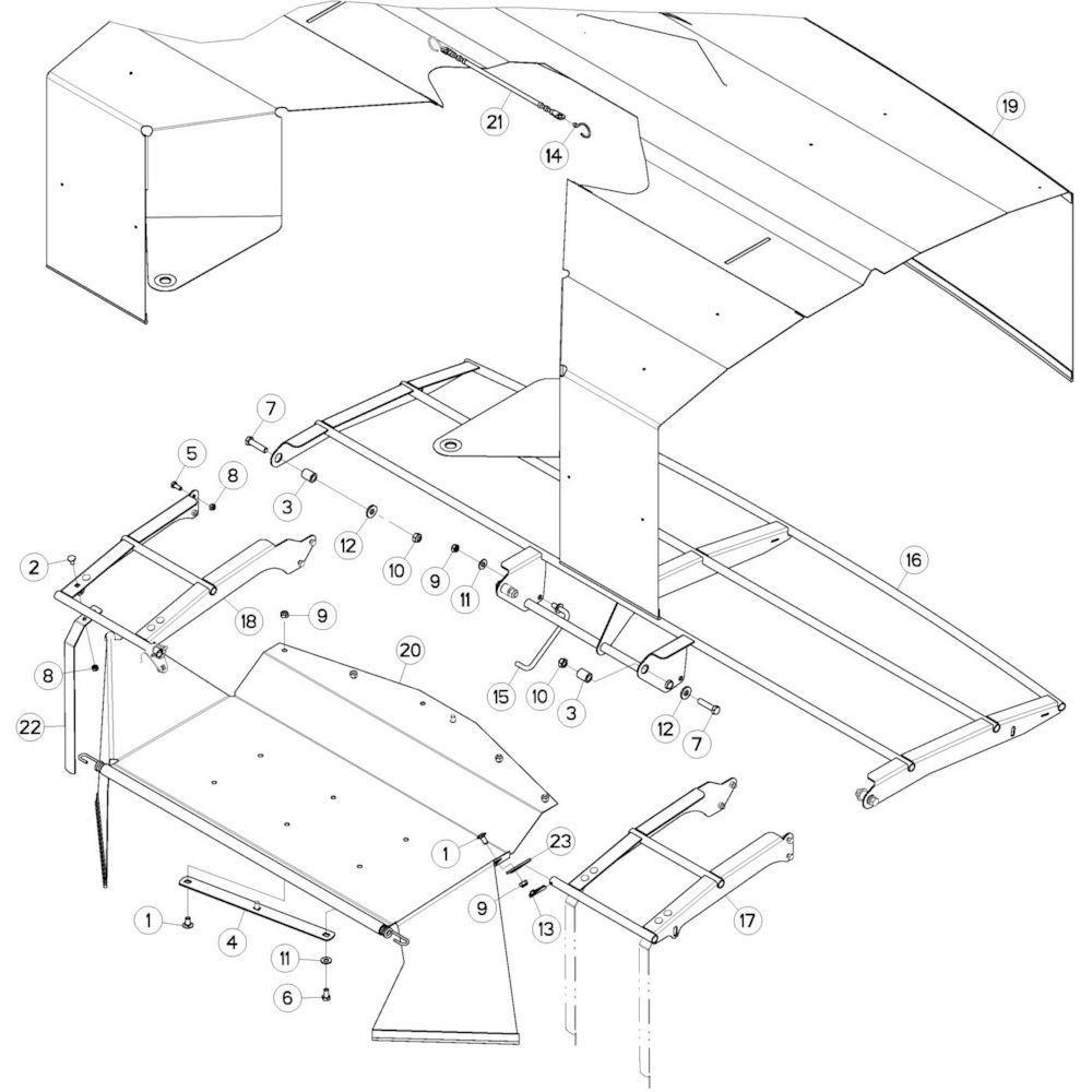 07 Schermbeugels passend voor KUHN GMD280F
