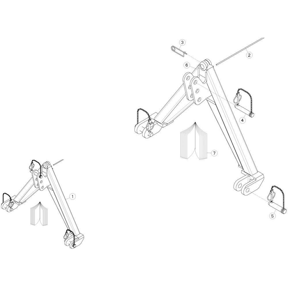 14 Bevestigingsframe 2 passend voor KUHN GMD280F