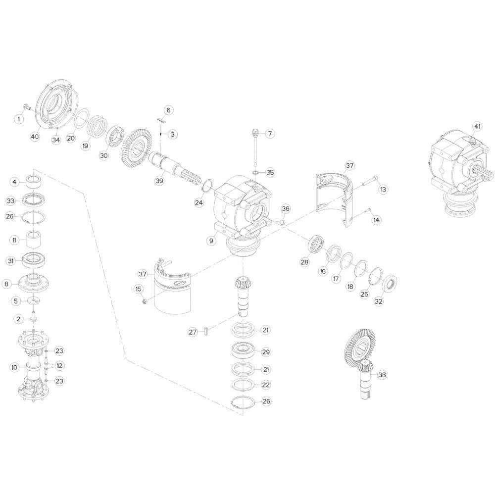 04 Zijtandwielkast 2 passend voor KUHN GMD280F