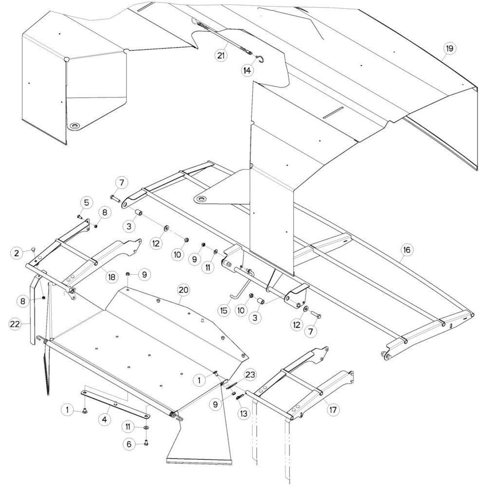 09 Schermbeugels passend voor KUHN GMD280F