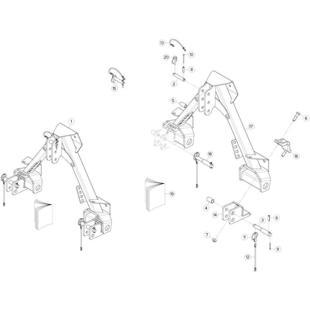 17 3-puntsframe 2 passend voor KUHN GMD280F