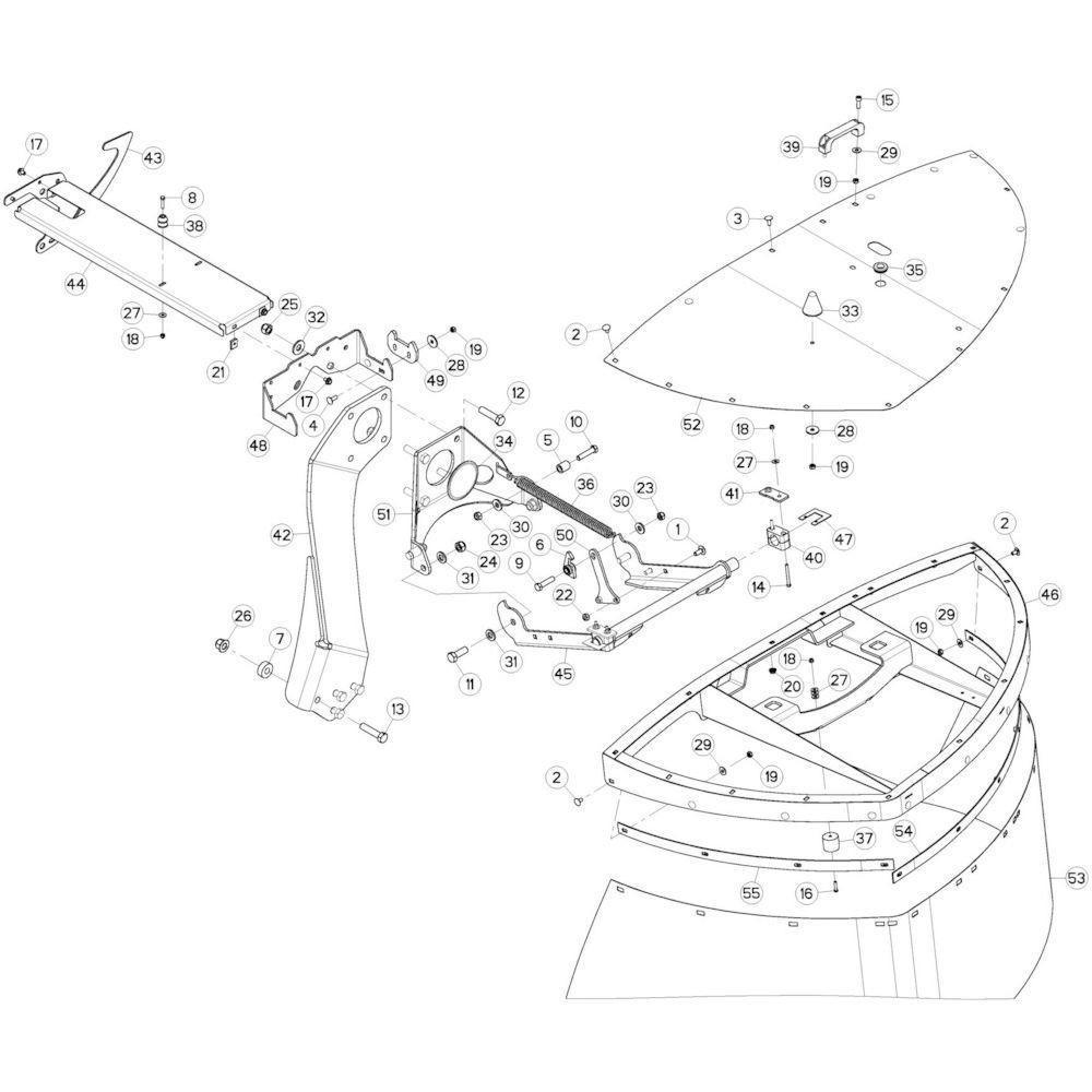 10 Beschermingen rechts passend voor KUHN GMD280F