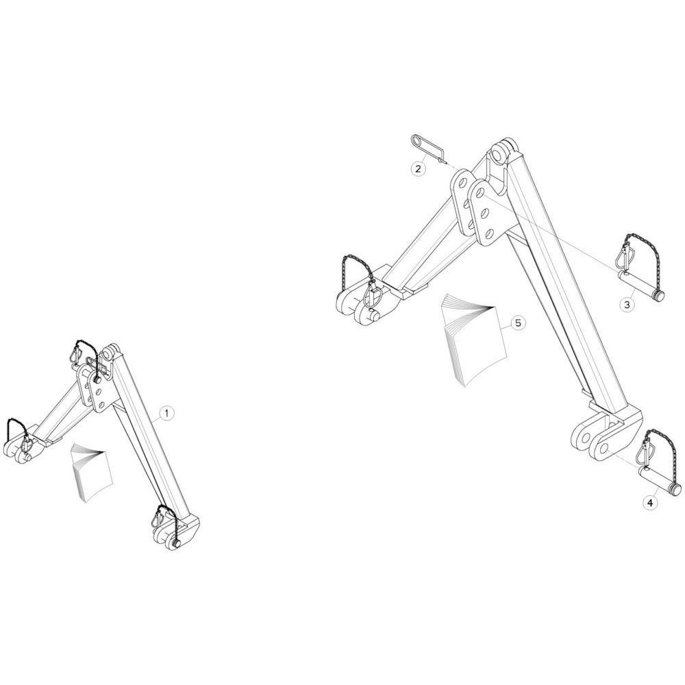 18 Bevestigingsframe 2 passend voor KUHN GMD280F