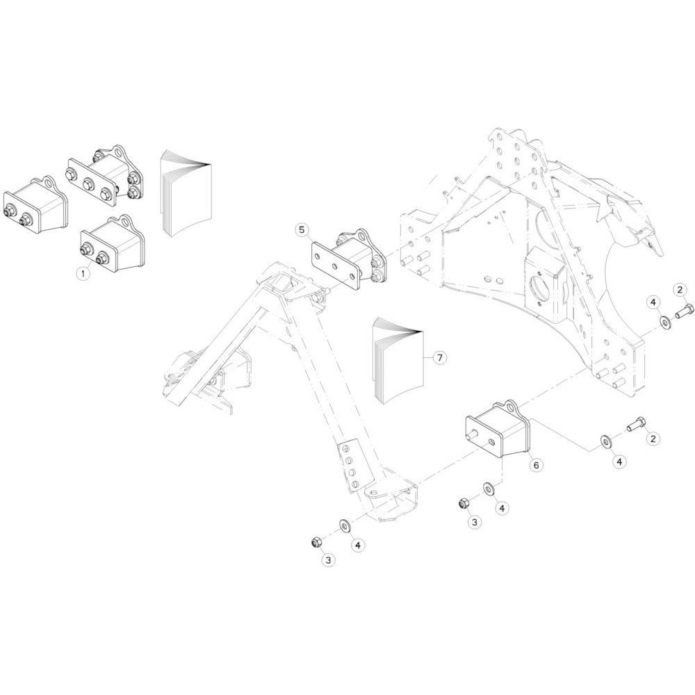 22 Offset, set 120 mm passend voor KUHN GMD280F