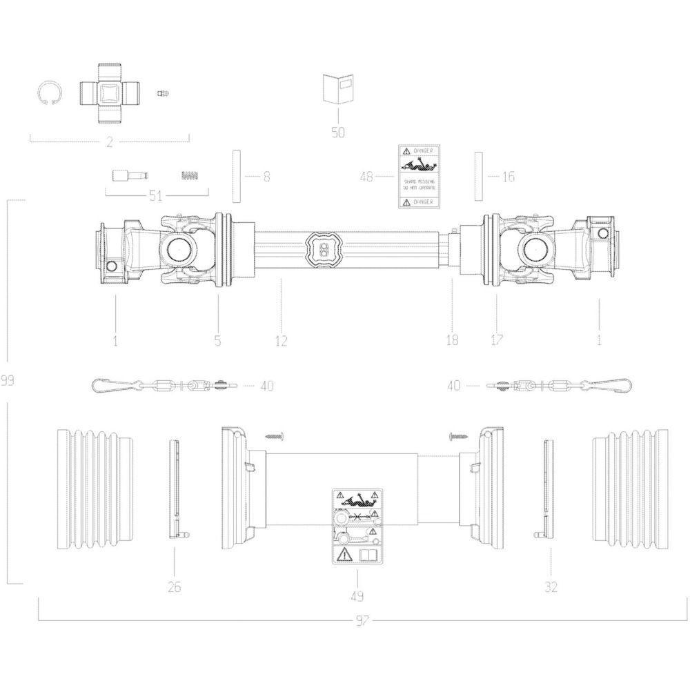 24 Transmissie passend voor KUHN GMD280F