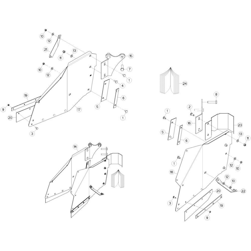 18 Zwadborden passend voor KUHN GMD280F