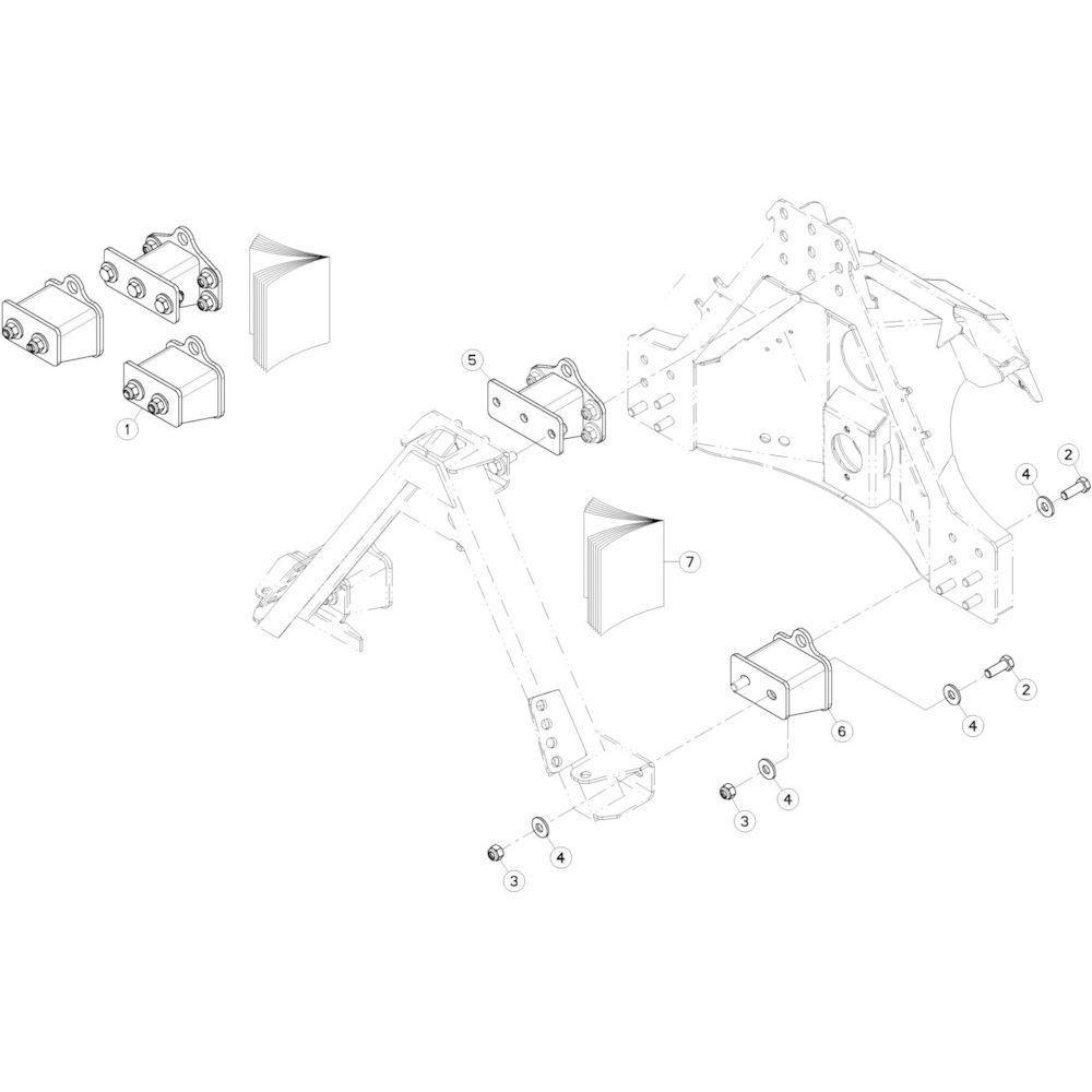 18 Offset, set 120 mm passend voor KUHN GMD280F