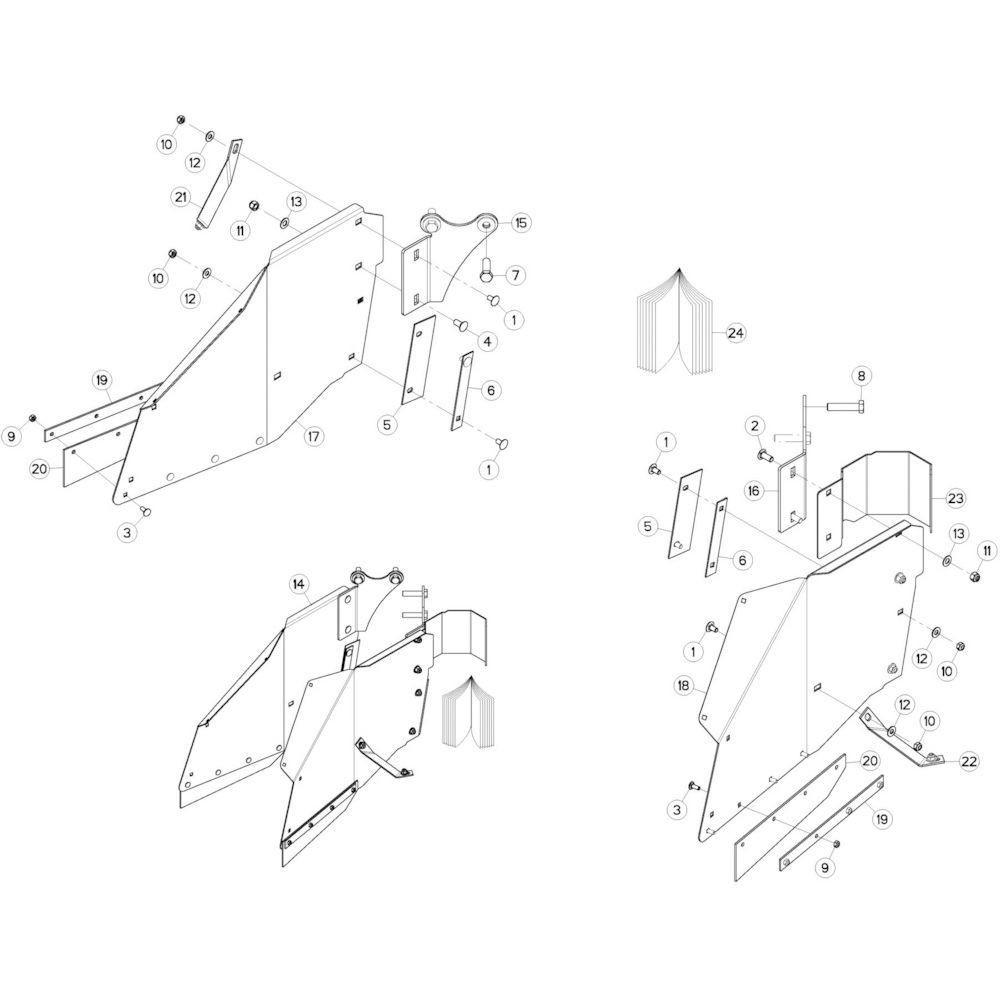 19 Zwadborden passend voor KUHN GMD280F