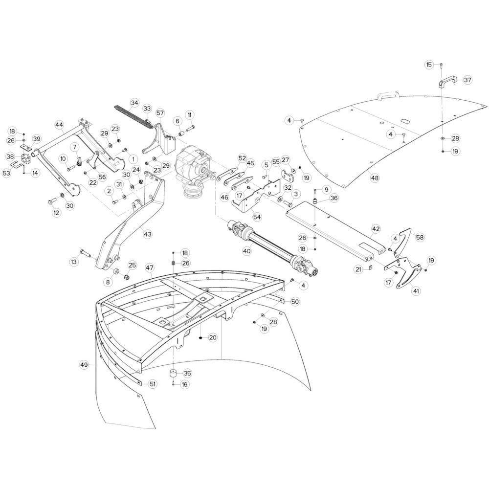 10 Beschermingen links passend voor KUHN GMD280F