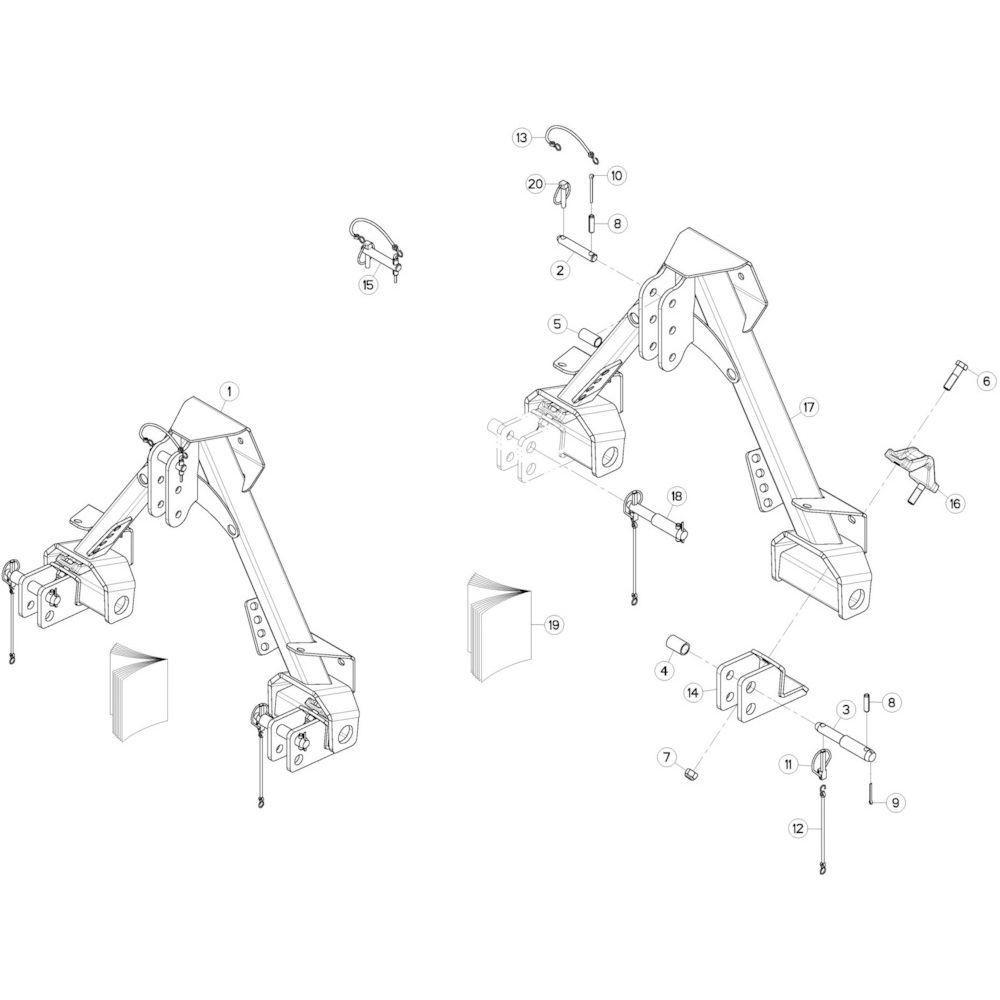 16 3-puntsframe 2 passend voor KUHN GMD280F