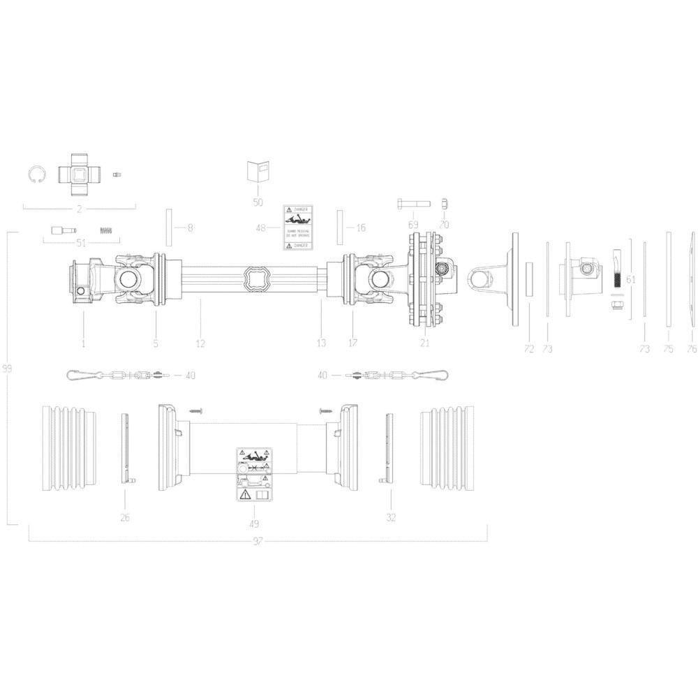 25 Transmissie 2 passend voor KUHN GMD280F
