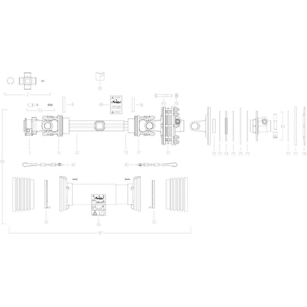 26 Transmissie 3 passend voor KUHN GMD280F