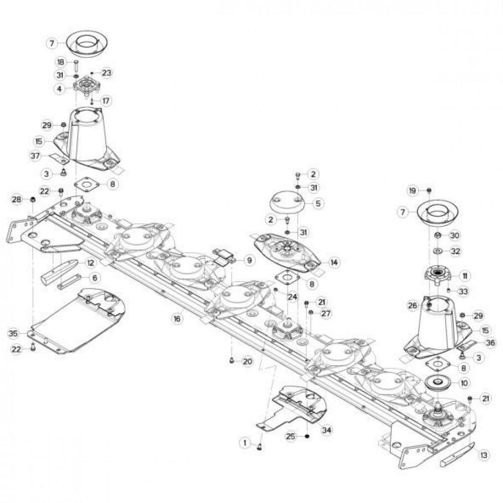 12 Schijven passend voor KUHN GMD310F